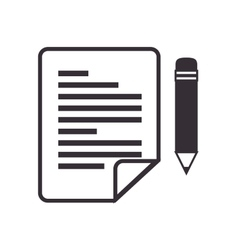 Paper pen sheet letter vector