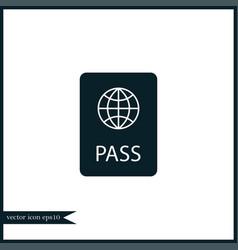 Passport icon simple vector