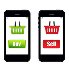 phone buy sell vector image