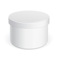 plastic can with a lid vector image