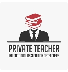 Private teacher logo vector
