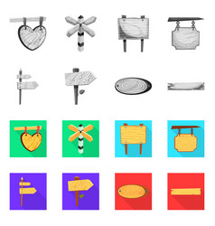 raw and forest icon set of vector image