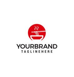 restaurant noodle logo design concept template vector image