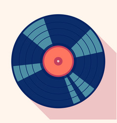 retro vinil long shadow vector image