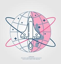 Rocket Icon Label vector
