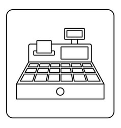 sale cash register icon outline vector image