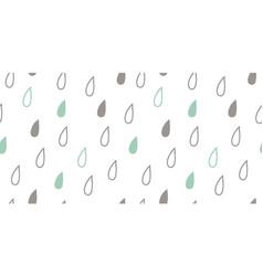 Seamless hand drawn geometric raindrops vector