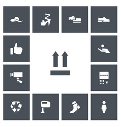 Set of 13 editable trade icons includes symbols vector