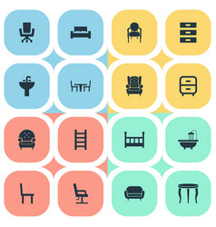 Set of simple furnishings vector
