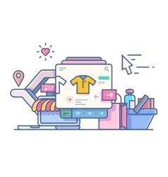 Shop online design flat vector image