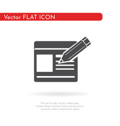 sign up icon for web business finance and vector image