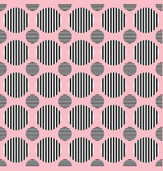 simple seamless pattern - circle design background vector image