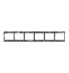 Six frames 35 mm film strip vector