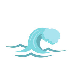 Small wave icon cartoon style vector