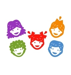 smiling kids on a white background vector image