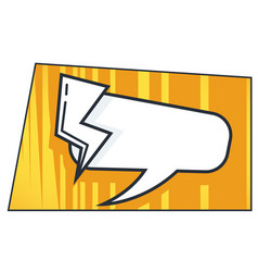 speech bubble and thunder bolt comic book style vector image