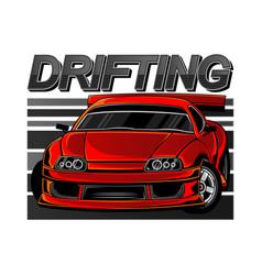 sport car drift vector image
