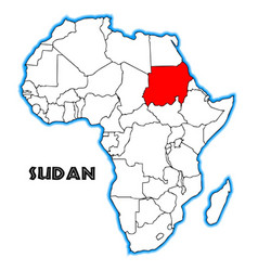 sudan vector image
