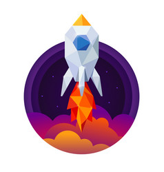 symbol space rocket and sky vector image