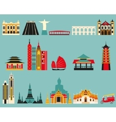 symbols famous cities vector image