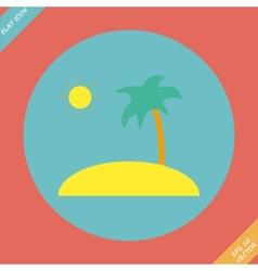 Tropical sea small island vector image