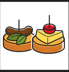 Two small snacks vector