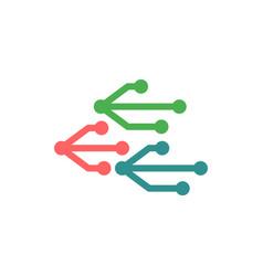 usb logo icon element isolated vector image