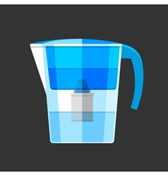 Water filter Flat design icon vector image