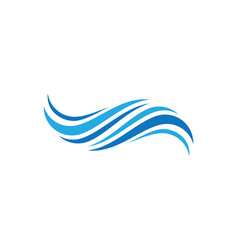 Wave symbol design vector