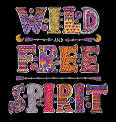 wild and free spirit vector image