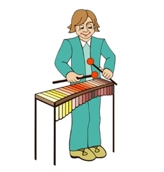 Xylophone on a white background vector