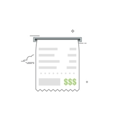 Concept check icon with a list of goods or vector image