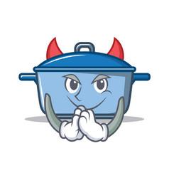 Devil kitchen character cartoon style vector