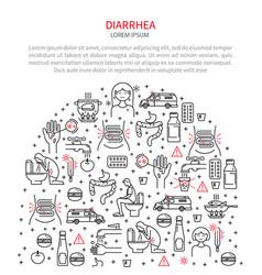 medical diarrhea vector image