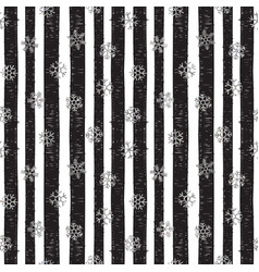 abstract pattern of falling snowflakes vector image vector image
