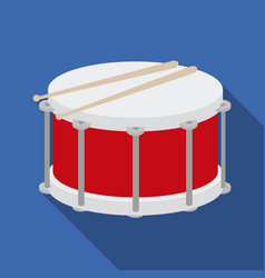 drum icon in flat style isolated on white vector image vector image