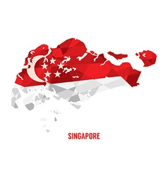 Map of Singapore vector image