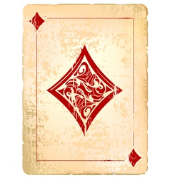Ace of diamonds vector image vector image