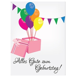 Birthday postcard with happy birthday vector image vector image