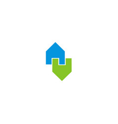 house logo houses logo icon design template vector image