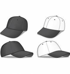 black baseball caps vector image vector image