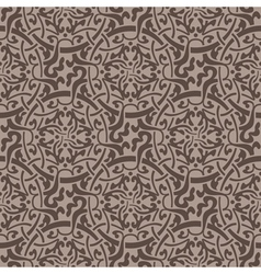 Brown floral seamless wallpaper pattern vector image vector image