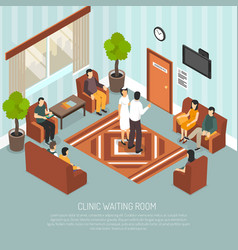 clinic waiting room isometric vector image