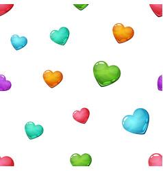 heart seamless cartoon pattern love icon vector image