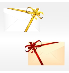 Holiday envelopes vector image