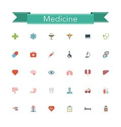 Medicine Flat Icons vector image vector image