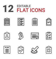 12 checklist icons vector