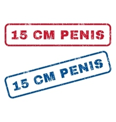 15 cm Penis Rubber Stamps vector image