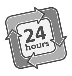 24 Hours Badge vector