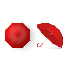 3d realistic render red blank umbrella icon vector image